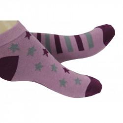 chaussettes basses originales ornées d'étoiles ou de rayures