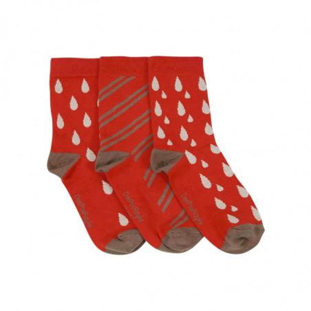chaussettes bébé gouttes rouges