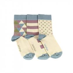 chaussettes à motif triangles pour bébé