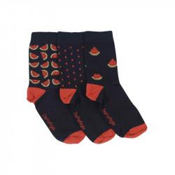 chaussettes bébé pastèques