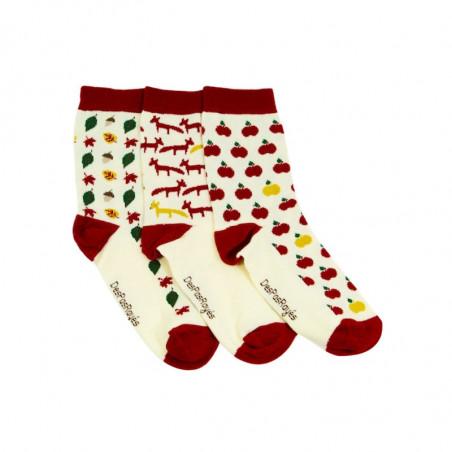 chaussettes bébé automne vendues par trois