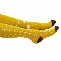 Collant jaune moutarde