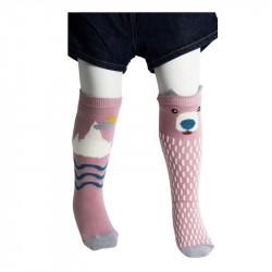 chaussettes hautes ourson pour bébé, enfant, fille ou garçon