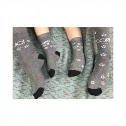 chaussettes parent-enfant imprimées : moi, mini-moi, copié, collé