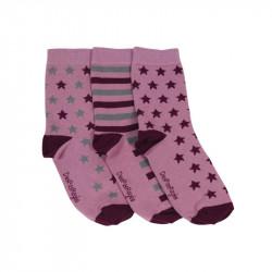chaussettes roses avec des étoiles pour femme, homme et enfant