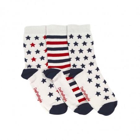 lot de 3 chaussettes étoiles bleues
