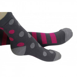 Chaussettes pois roses