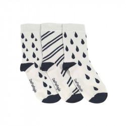 chaussettes gouttes bleues dépareillées