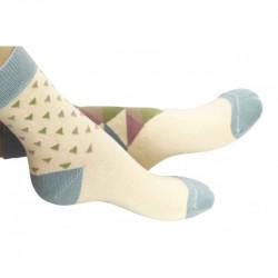 Chaussettes imprimées de petits et grands triangles