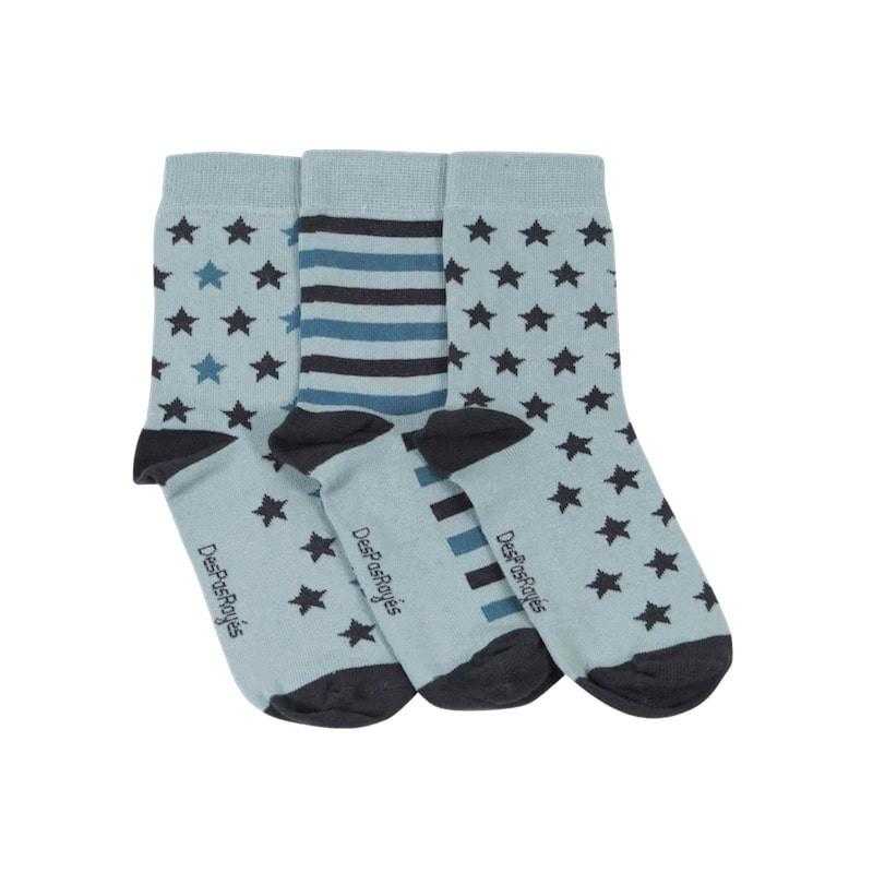 chaussettes étoiles menthe vendues par lot de 3