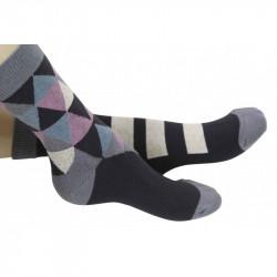 chaussettes enfant triangles noirs
