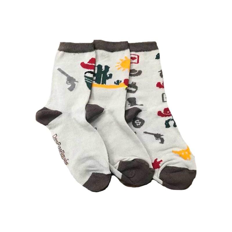 chaussettes dépareillées cow-boys