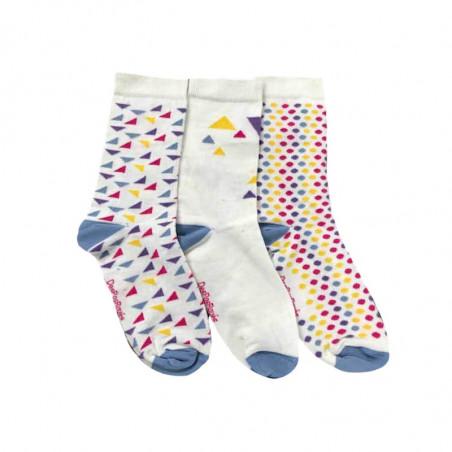 chaussettes construction colorées de motifs graphiques