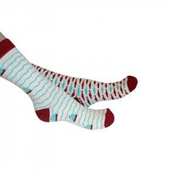 chaussettes avec motifs dédiés au monde marin