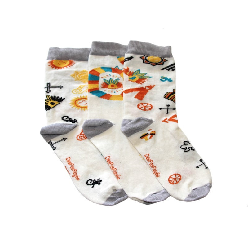 lot de 3 chaussettes aztèques dépareillées