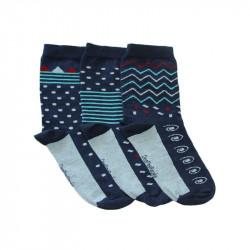 chaussettes givrées bleues