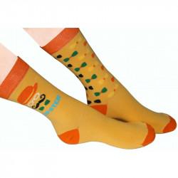 Chaussettes hispter avec talon et extrémités orange foncé
