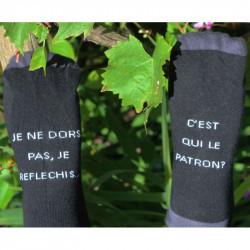 chaussettes mixtes avec messages humoristiques