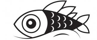 poisson noir et blanc premier avril